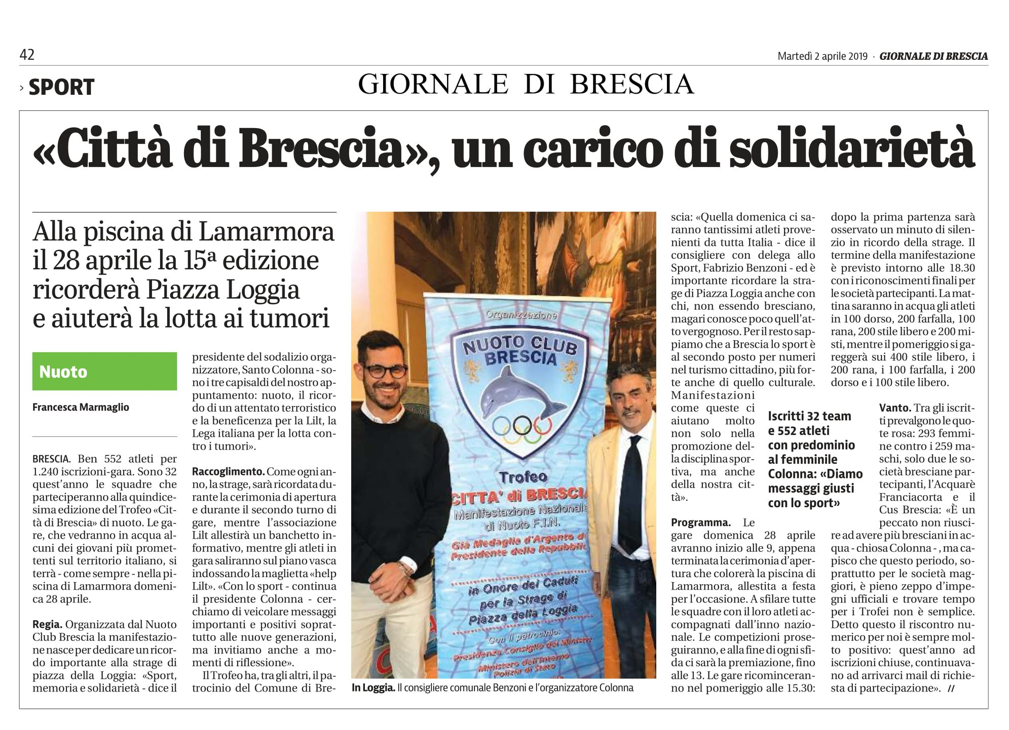 Giornale di Brescia – 02/04/2019