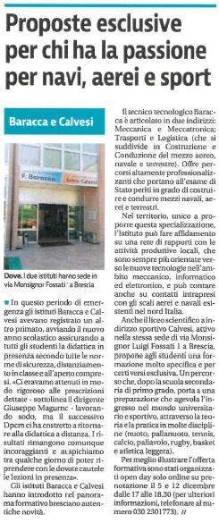 Giornale di Brescia – 03/12/2020