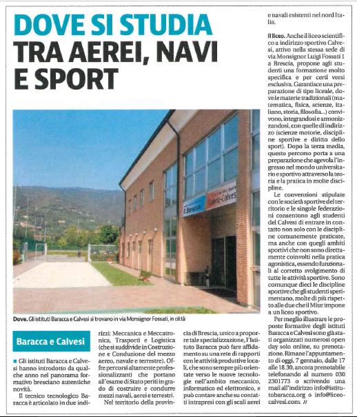 Giornale di Brescia – 07/01/2021