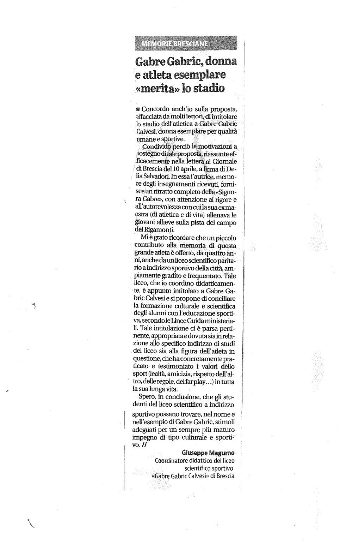 Giornale di Brescia – 13/04/2021