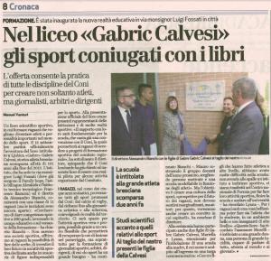 """Nel liceo """"Gabric-Calvesi"""" gli sport coniugati con i libri"""